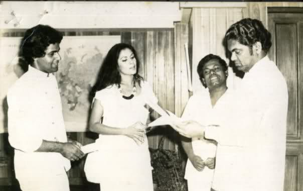 Young Rosy with Sanath and Athulathmudali