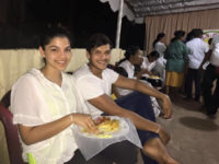 Rohitha Rajapakse and his fiance in a Dansela, 2015