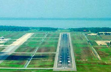 Palali airport from sky