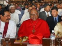 Malcom Cardinal Cooray with Mahinda and Shiranthi Rajapaksa
