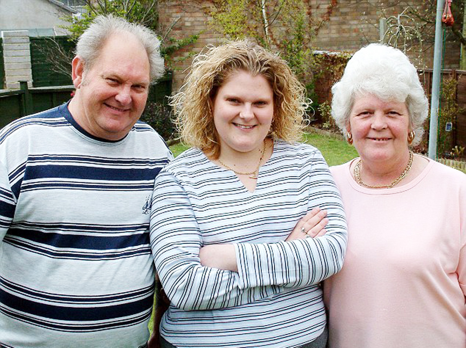 Louise Brown with mum and dad